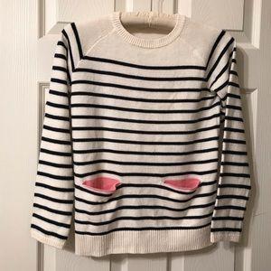 Child's Size 8-10 Year H&M Cream Stripe Sweater
